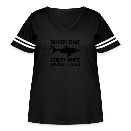Great White Shark T-Shirt - Women's Curvy Vintage Sport T-Shirt