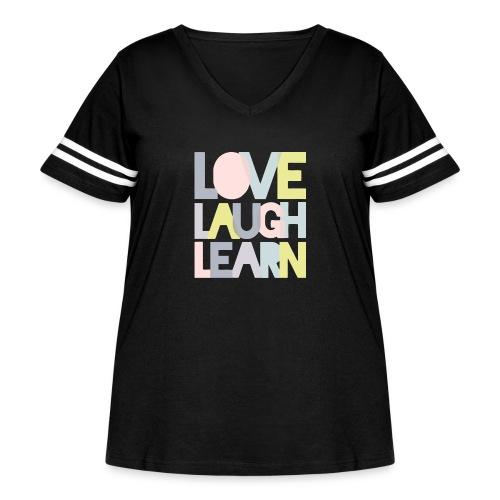 Love laugh learn - Women's Curvy Vintage Sport T-Shirt