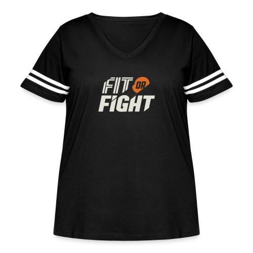 Fit or Fight - Women's Curvy Vintage Sport T-Shirt