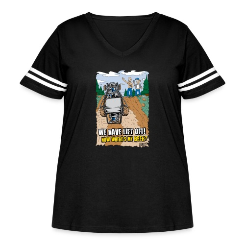 Beer Buggy Lift Off - Women's Curvy Vintage Sport T-Shirt