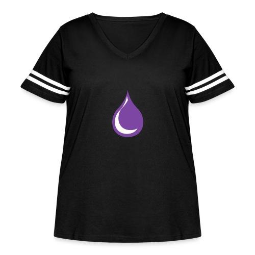 drop - Women's Curvy Vintage Sport T-Shirt