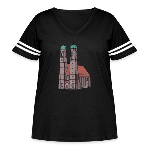 Munich Frauenkirche - Women's Curvy Vintage Sport T-Shirt