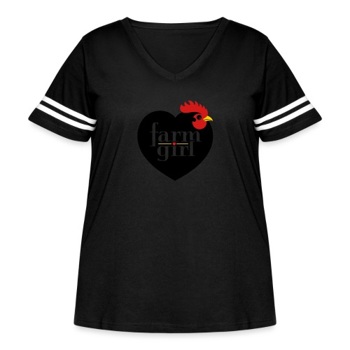 Farm girl - Women's Curvy Vintage Sport T-Shirt