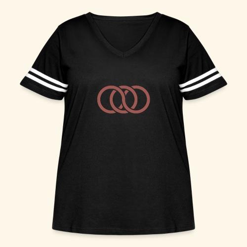 circle paradox - Women's Curvy Vintage Sport T-Shirt