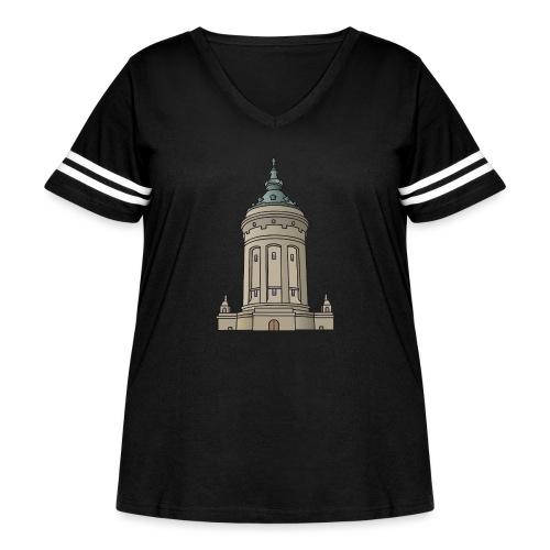 Mannheim water tower - Women's Curvy Vintage Sport T-Shirt