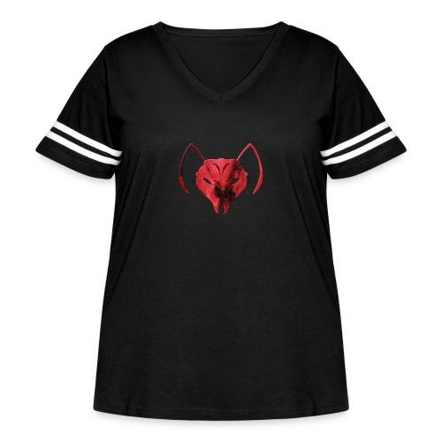 MozLogo1 - Women's Curvy Vintage Sport T-Shirt