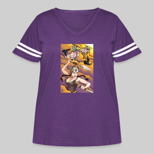 Ride of the Valkyries - Women's Curvy Vintage Sport T-Shirt