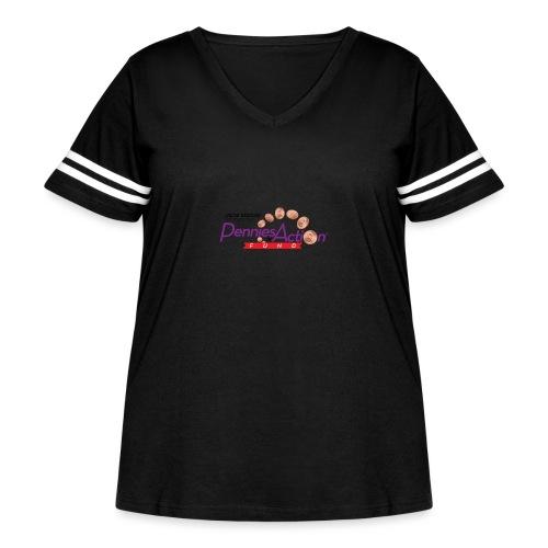 Pennies In Action Logo - Women's Curvy Vintage Sport T-Shirt