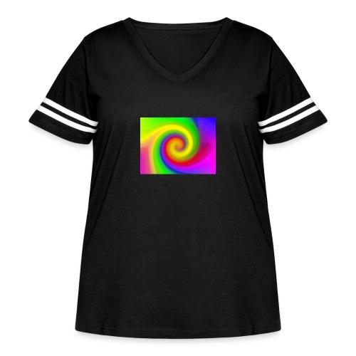 color swirl - Women's Curvy Vintage Sport T-Shirt