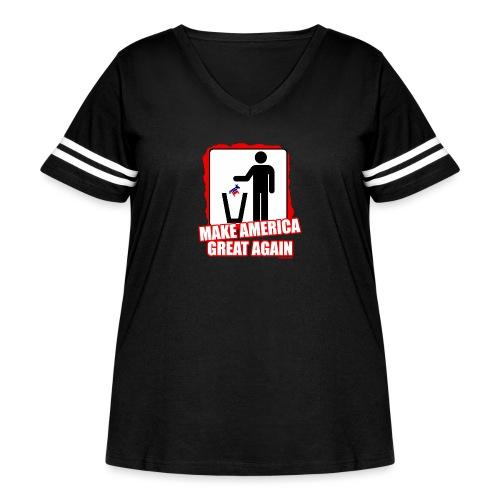 MAGA TRASH DEMS - Women's Curvy Vintage Sport T-Shirt