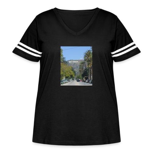 RockoWood Sign - Women's Curvy Vintage Sport T-Shirt