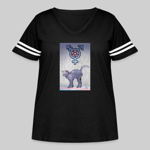 Trans Satanic Cat - Women's Curvy Vintage Sport T-Shirt