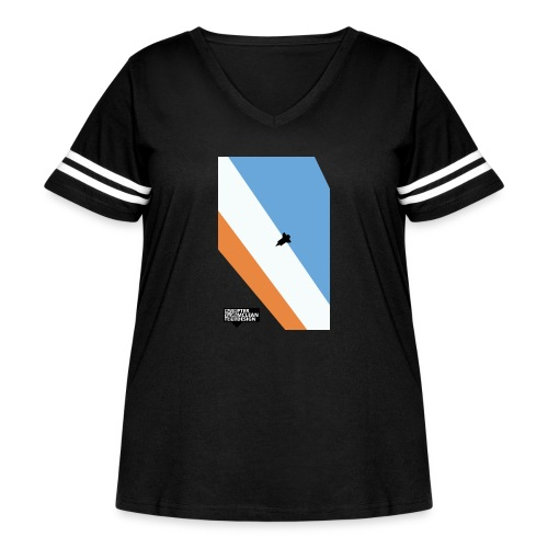 ENTER THE ATMOSPHERE - Women's Curvy Vintage Sport T-Shirt