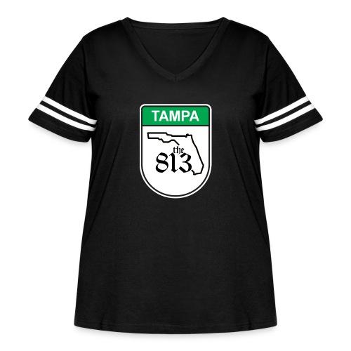 Tampa Toll - Women's Curvy Vintage Sport T-Shirt