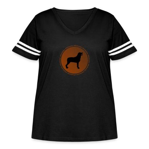 Rottweiler - Women's Curvy Vintage Sport T-Shirt