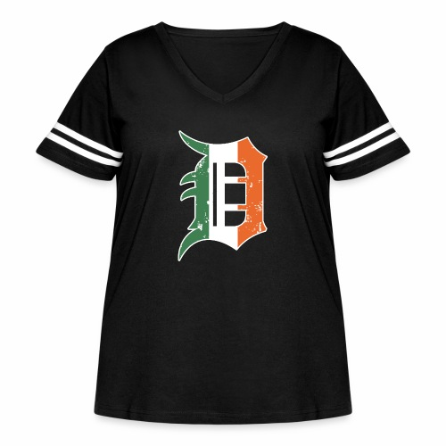 IRISH D - Women's Curvy Vintage Sport T-Shirt