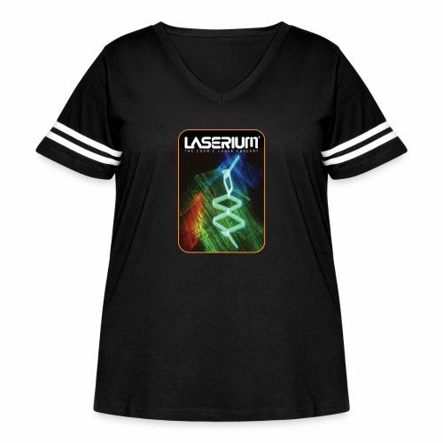 LaseriumDesign001 - Women's Curvy Vintage Sport T-Shirt