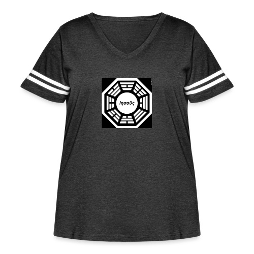 My Dharma is Jesus - Women's Curvy Vintage Sport T-Shirt
