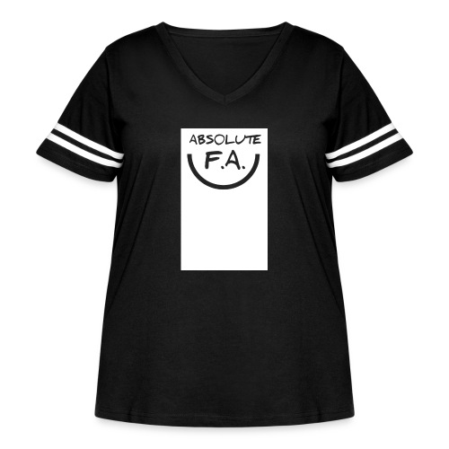 Absolute FA smiley - Women's Curvy Vintage Sport T-Shirt