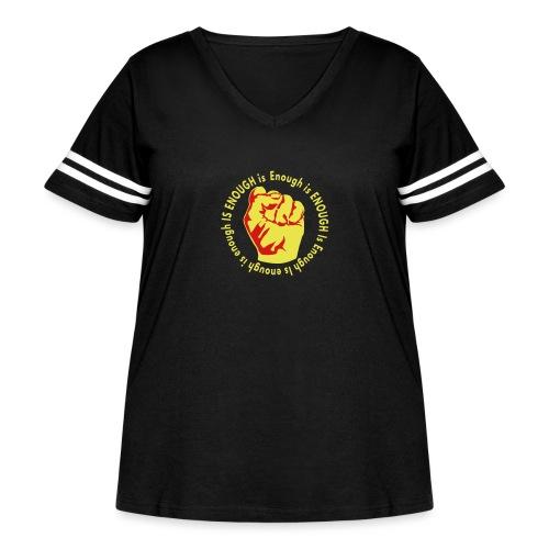 Enough is ENOUGH - Women's Curvy Vintage Sport T-Shirt