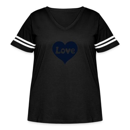 Love Heart - Women's Curvy Vintage Sport T-Shirt