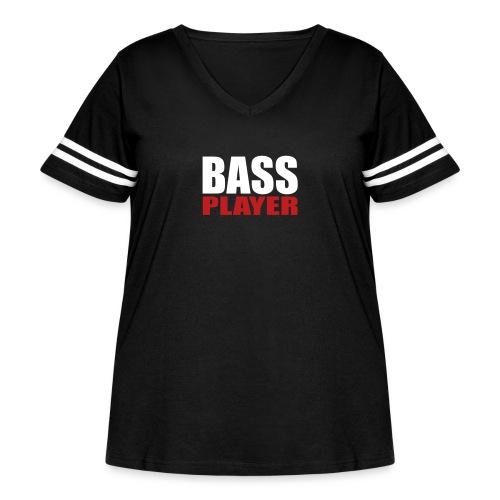 Bass Player - Women's Curvy Vintage Sport T-Shirt