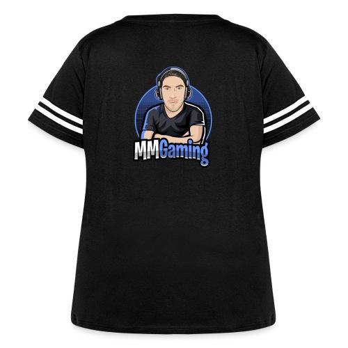 MMGaming Logo - Women's Curvy Vintage Sports T-Shirt