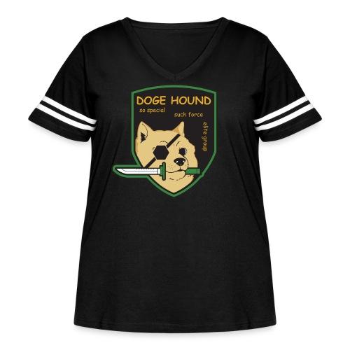 Doge Hound Metal Gear Solid - Women's Curvy Vintage Sport T-Shirt