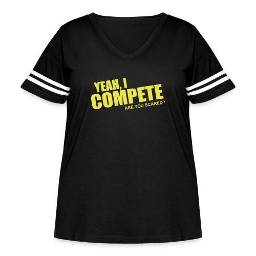 compete - Women's Curvy Vintage Sport T-Shirt