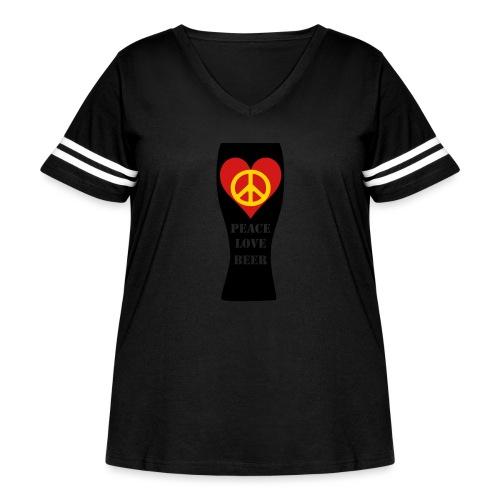 Peace Love Beer - Women's Curvy Vintage Sport T-Shirt