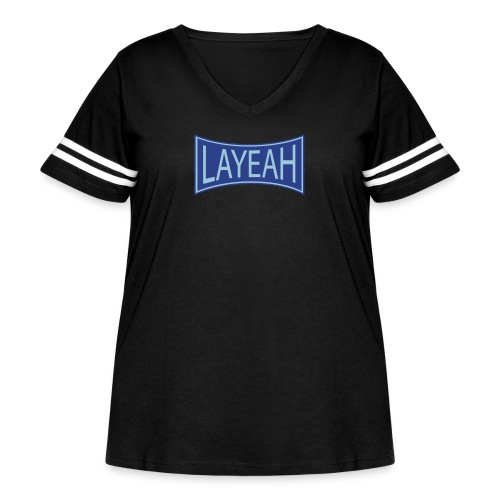 White LaYeah Shirts - Women's Curvy Vintage Sport T-Shirt