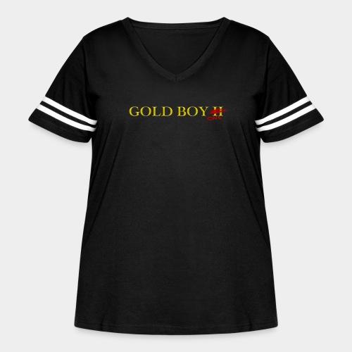 Gold Boy One - Women's Curvy Vintage Sport T-Shirt