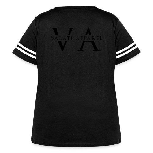VA Strikethrough - Women's Curvy Vintage Sport T-Shirt