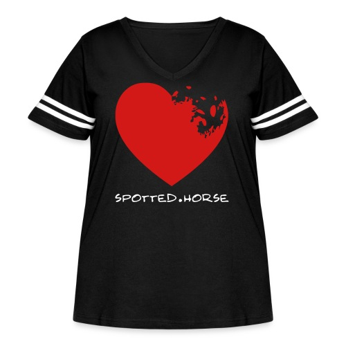 Appaloosa Heart - Women's Curvy Vintage Sport T-Shirt