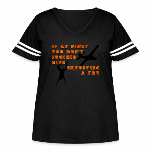 Try Skydiving - Women's Curvy Vintage Sports T-Shirt