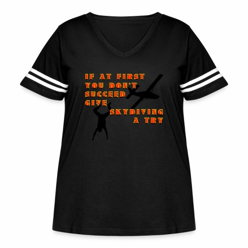 Try Skydiving - Women's Curvy Vintage Sport T-Shirt