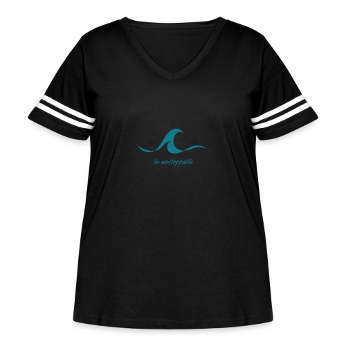 Be Unstoppable - Women's Curvy Vintage Sport T-Shirt