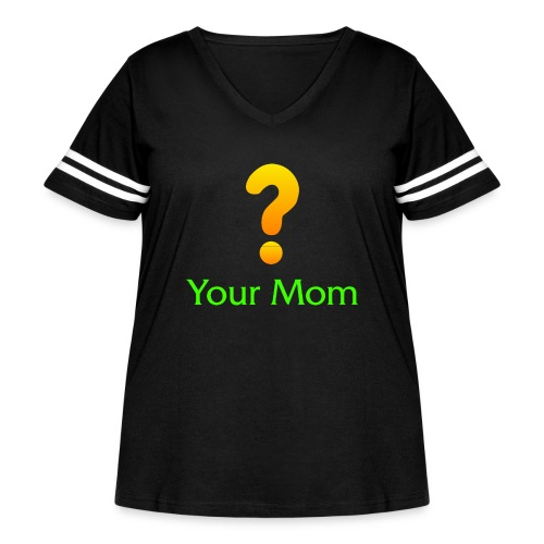 Your Mom Quest ? World of Warcraft - Women's Curvy Vintage Sport T-Shirt