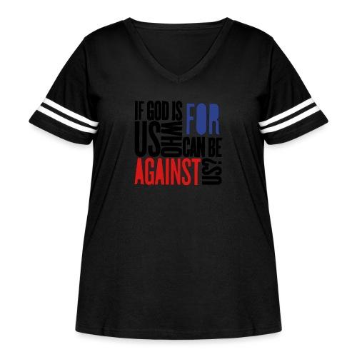 IGIFU - Women's Curvy Vintage Sports T-Shirt