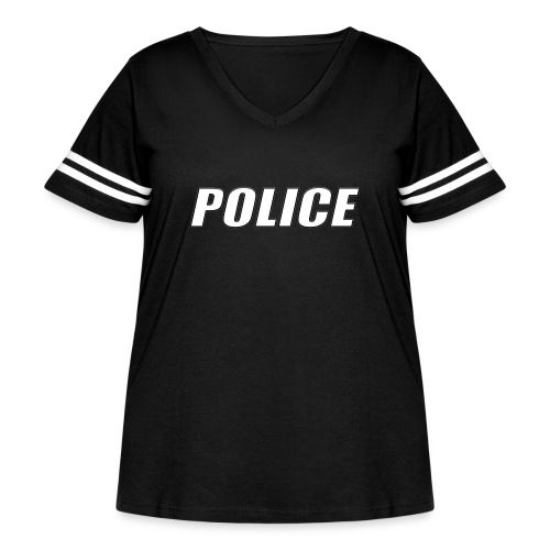 Police White - Women's Curvy Vintage Sport T-Shirt