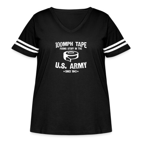 100mph Tape - Women's Curvy Vintage Sport T-Shirt