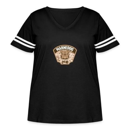 Desert Marne Dog (3rd ID) - Women's Curvy Vintage Sport T-Shirt