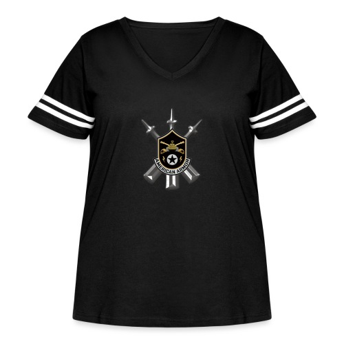 American Armor - Women's Curvy Vintage Sport T-Shirt