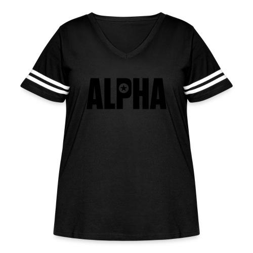 ALPHA - Women's Curvy Vintage Sport T-Shirt