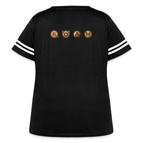 ROAM letters sepia - Women's Curvy Vintage Sport T-Shirt