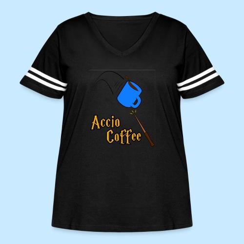 Accio Coffee! (Double Sided) - Women's Curvy Vintage Sport T-Shirt