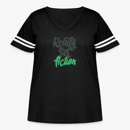 Ready.Set.Action! - Women's Curvy Vintage Sport T-Shirt