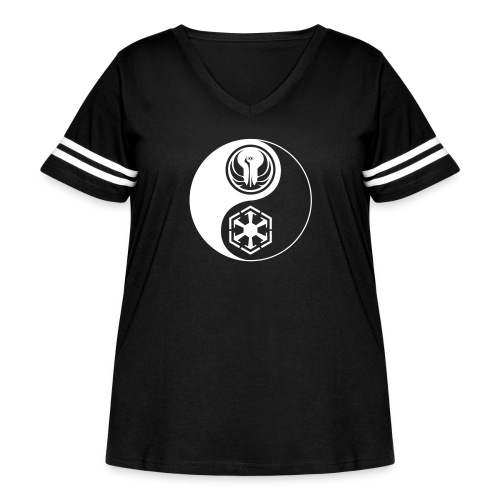 Star Wars SWTOR Yin Yang 1-Color Light - Women's Curvy Vintage Sport T-Shirt