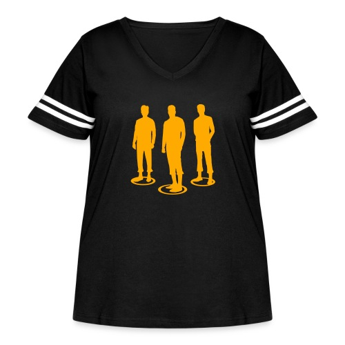 Pathos Ethos Logos 2of2 - Women's Curvy Vintage Sport T-Shirt