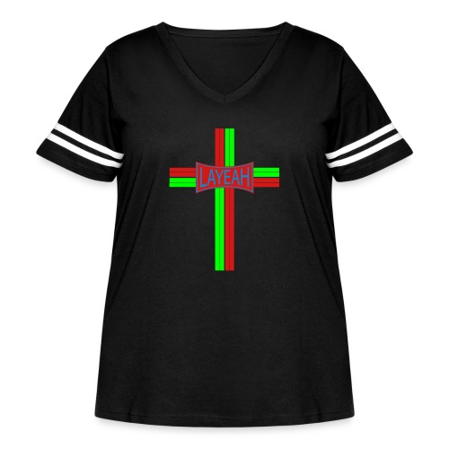 Cross Layeah Shirts - Women's Curvy Vintage Sport T-Shirt